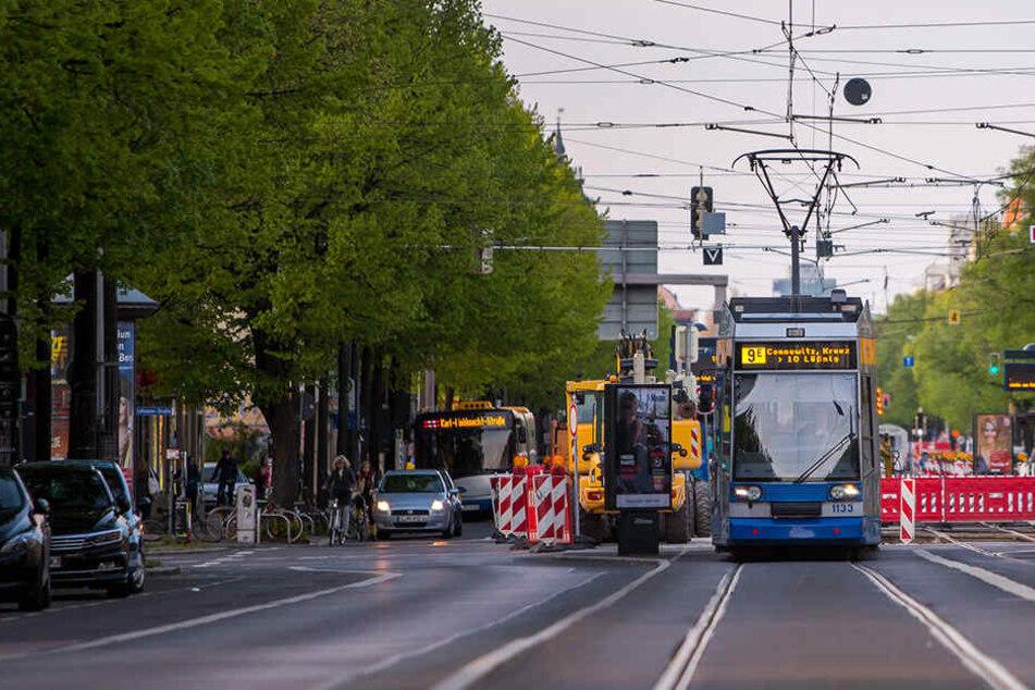 Bis Mitte/Ende Mai müssen Tram-Kunden in der Südvorstadt wieder auf Ersatzhaltestellen ausweichen.