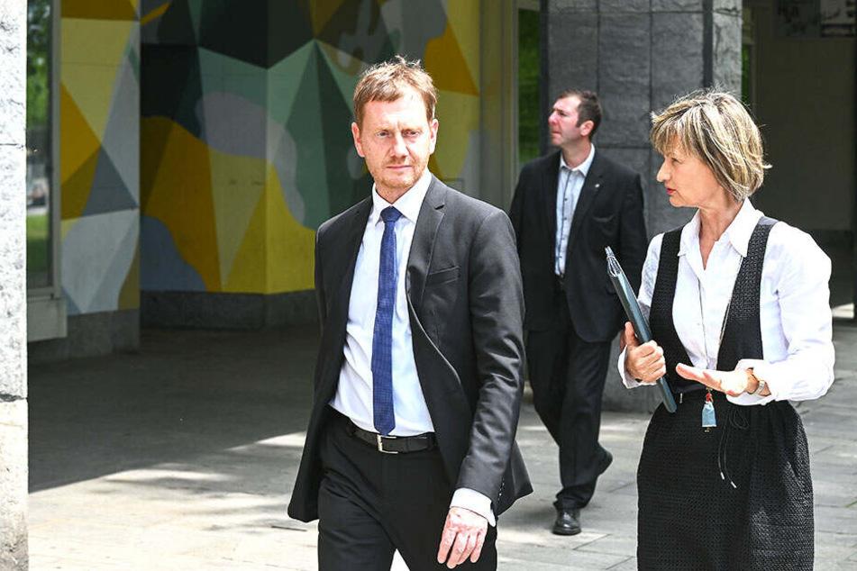 Oberbürgermeisterin Barbara Ludwig (57, SPD) begleitete Kretschmer bei seinen Chemnitzer Terminen