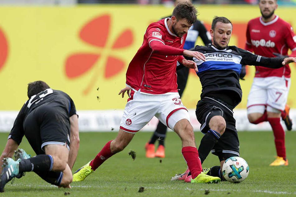 Manuel Prietl (re.) und Florian Dick haben sich einen echten Fight mit dem FCK geliefert.
