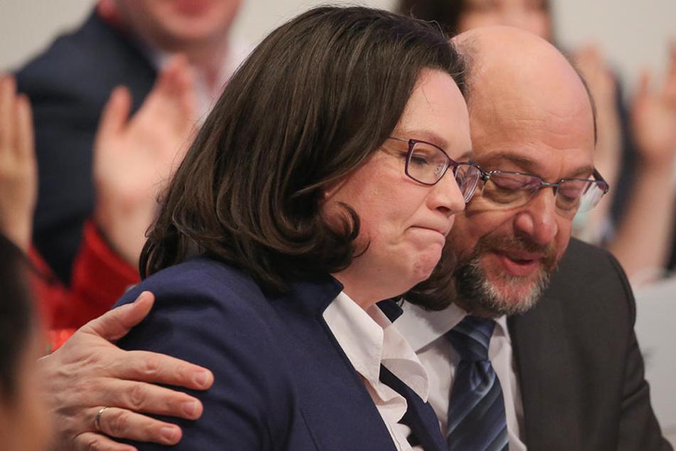 """""""Wenn die Alternativen Martin Schulz und Andrea Nahles heißen"""", kommt das der Alternative für Deutschland entgegen."""