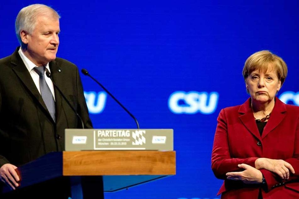 Zwischen Horst Seehofer und Angela Merkel sind die Fronten in der Flüchtlingsfrage derzeit verhärtet.