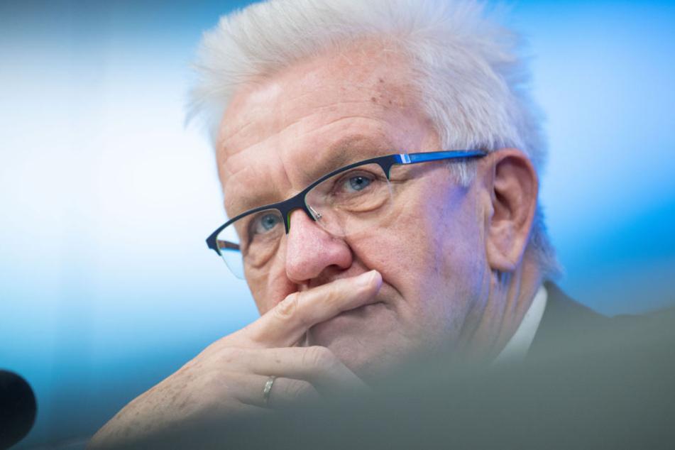 Ministerpräsident von Baden-Württemberg Winfried Kretschmann (Grüne).