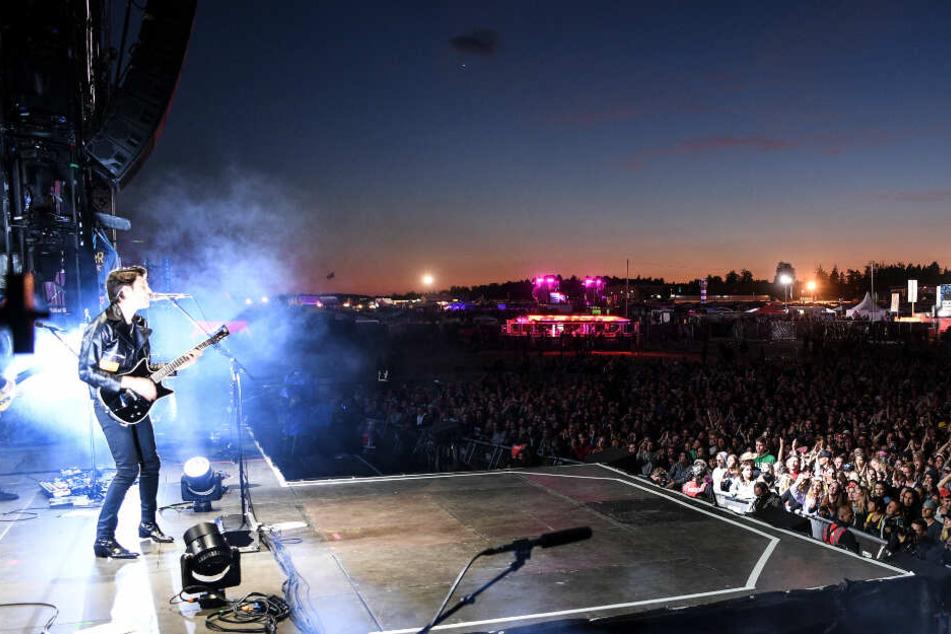 Der englische James Bay tritt letztes Jahr auf dem Festival auf.