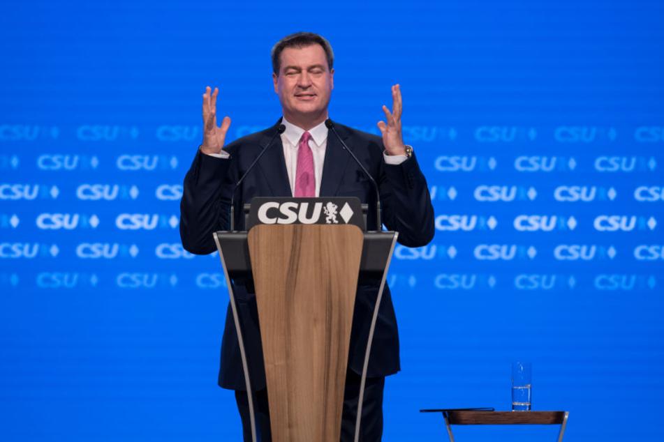 Markus Söder tritt für die CSU bei der Landtagswahl in Bayern an.