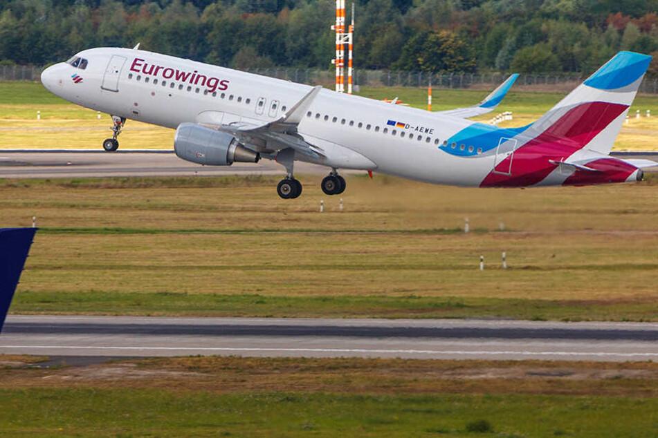 Über 200 Eurowingsflüge fallen wegen des Streikes in NRW aus.
