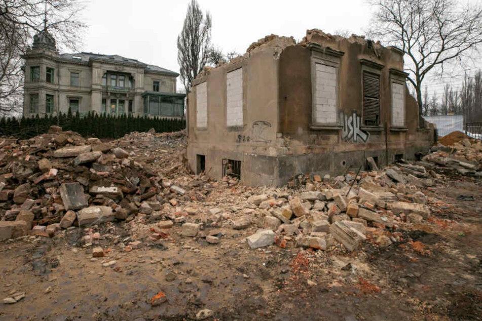 Das leerstehende Haus an der Leipziger Straße wurde vorige Woche abgerissen.
