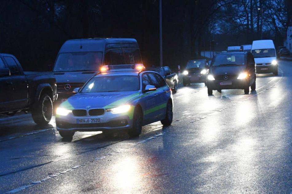 An der Unfallstelle staute sich der Verkehr.