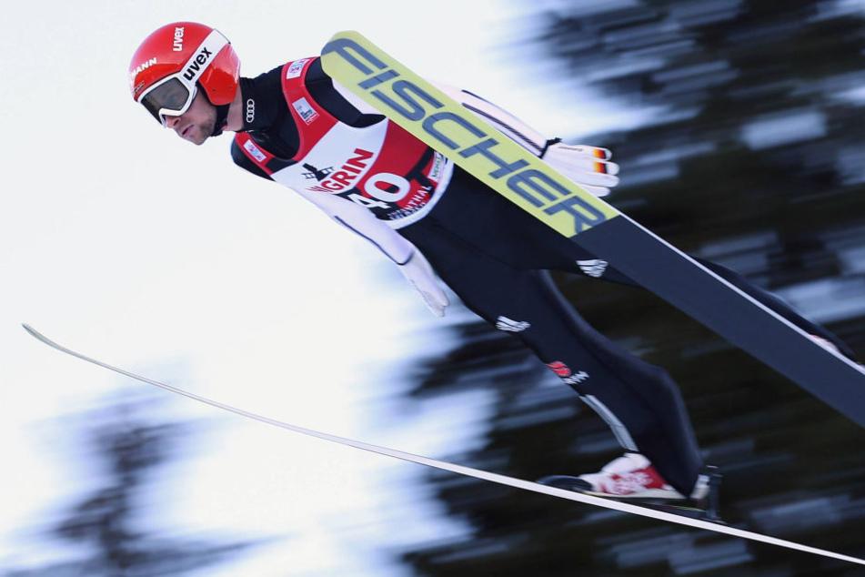 Markus Eisenbichler (25) landete nach einem sensationellen zweiten Sprung immerhin noch auf dem sechsten Platz.