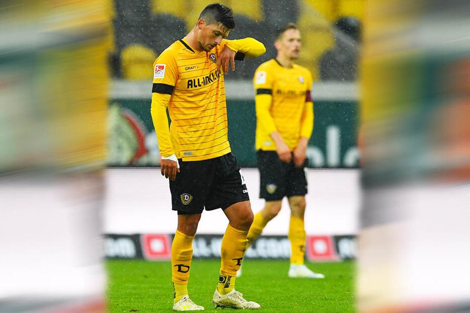 Er war noch Dresdens bester Feldspieler und zeigte für die enttäuschten Fans Verständnis: Jannis Nikolaou.