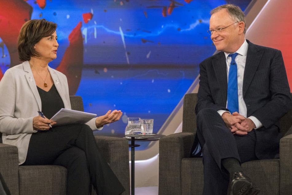 Zu Gast bei Sandra Maischberger war auch Stephan Weil (59, SPD, Ministerpräsident Niedersachsen).