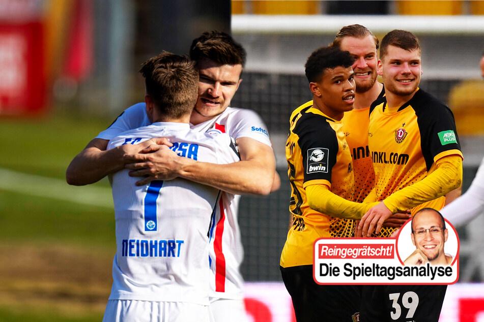 Dynamo und Rostock marschieren weiter, Magdeburg in tiefer Ergebniskrise!