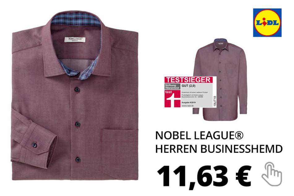 NOBEL LEAGUE® Herren Businesshemd – bordeaux