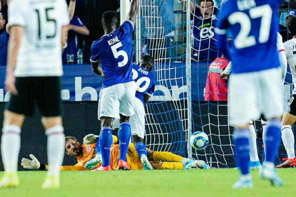 Kévin Zohi (Mi./Rückennummer 20) erzielte das 1:0 für Straßburg.