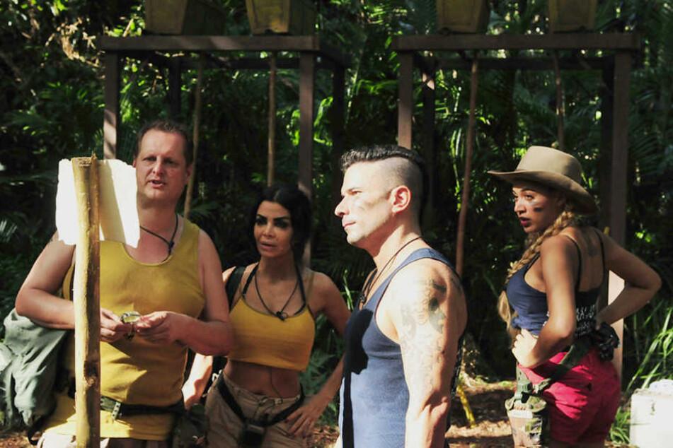 """In Zweierteams traten """"Snake Rock"""" (gelb) und """"Base Camp"""" (blau) gegeneinander bei einer Schatzsuche an."""