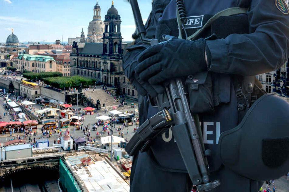 Stadtfest wird gesichert! Schwer bewaffnete Spezialeinheit steht bereit