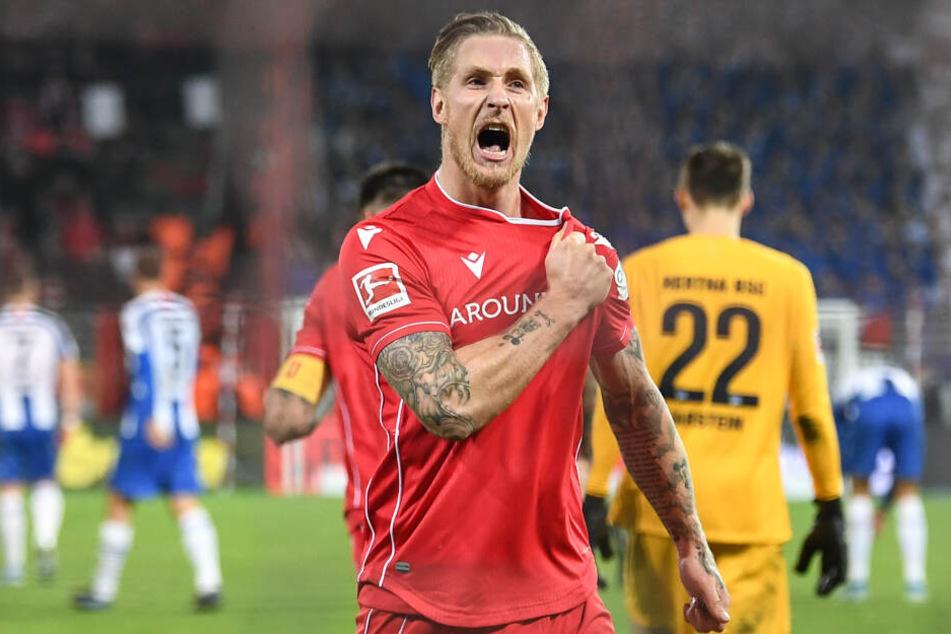 Derby-Held: Sebastian Polter schoss Union zum Sieg.