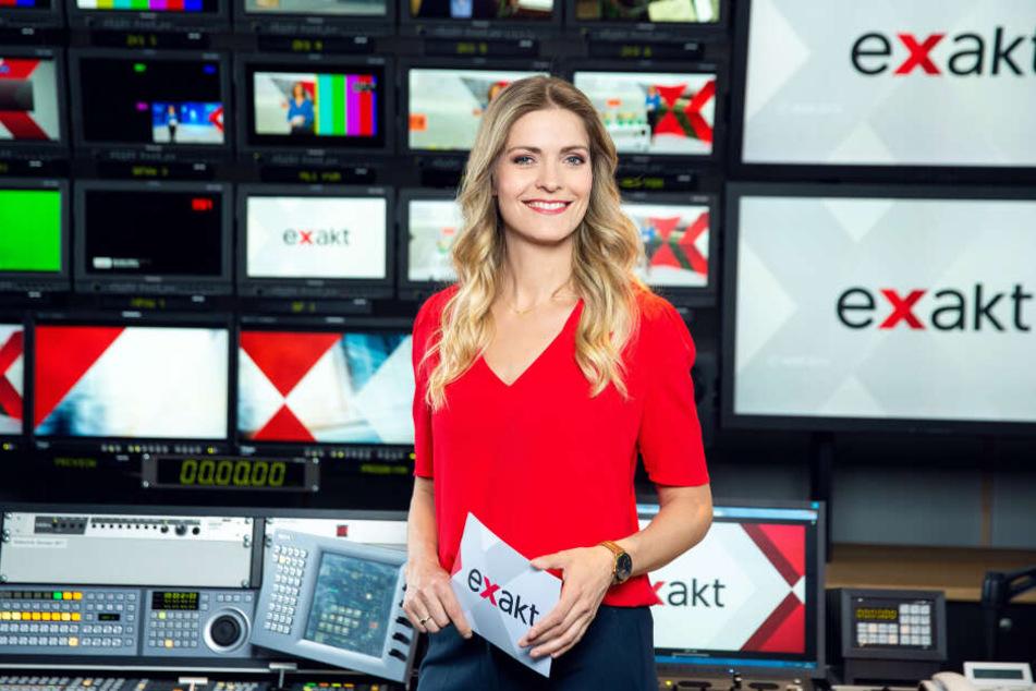 """Wiebke Binder (39) moderiert das wöchentliche MDR-Magazin """"Exakt"""" seit Anfang April."""