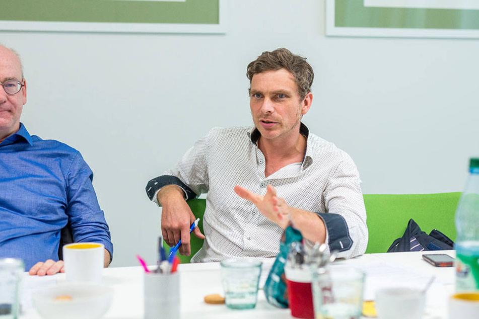 Thomas Löser (44), Sprecher für Stadtentwicklung und Bau bei den Grünen.