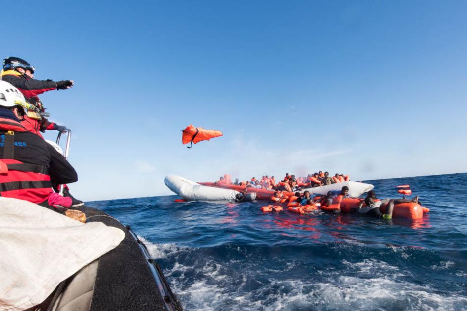 Flüchtlinge können derzeit nicht vor dem Ertrinken im Mittelmeer gerettet werden. (Bild von Januar 2018)