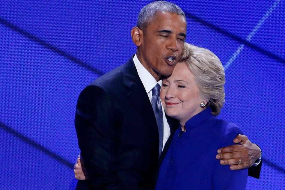 Barack Obama (57) und Hillary Clinton (70).