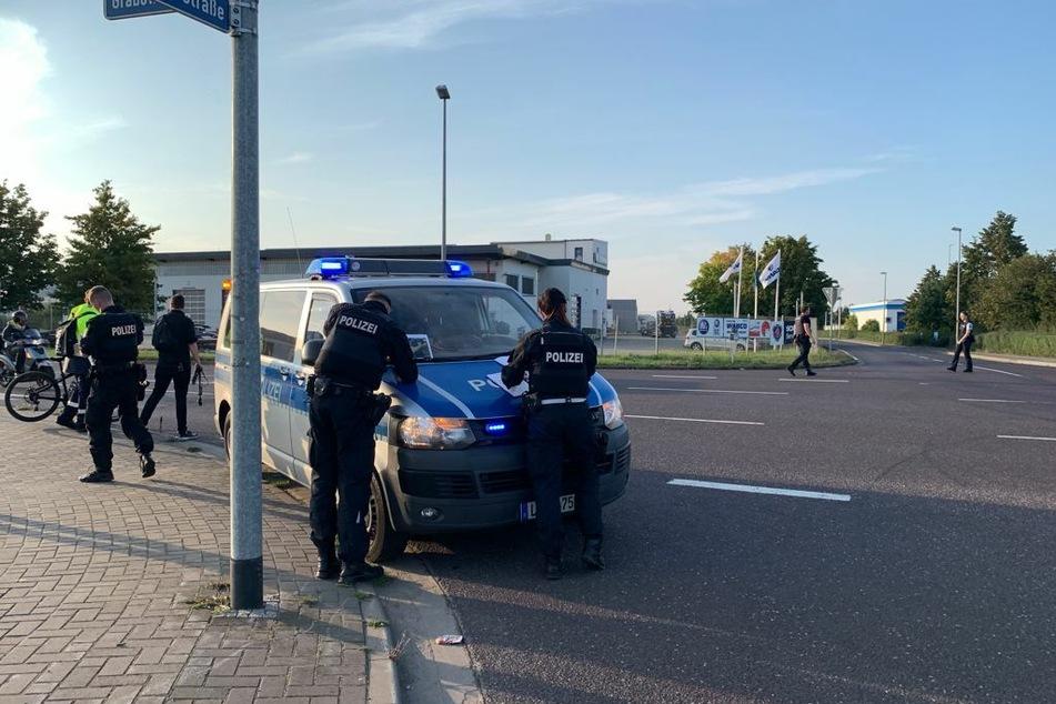 Polizeieinsatz in Magdeburg-Rothensee: Am Dienstagnachmittag war dort auf einer Baustelle eine alte Weltkriegsbombe entdeckt worden.