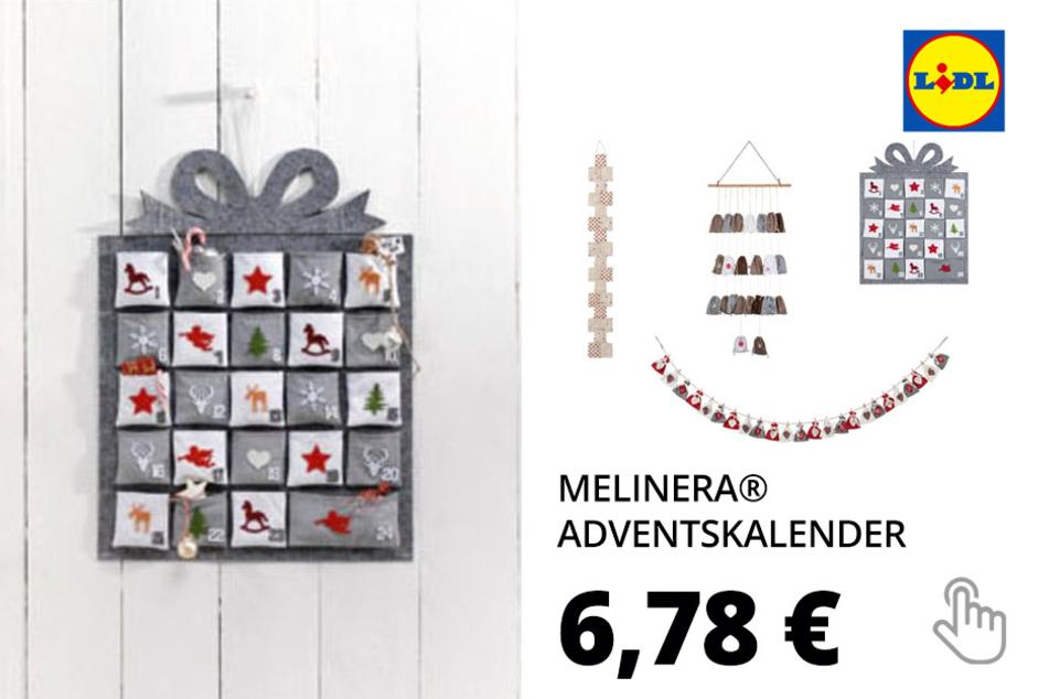 MELINERA® Adventskalender, zum Aufhängen