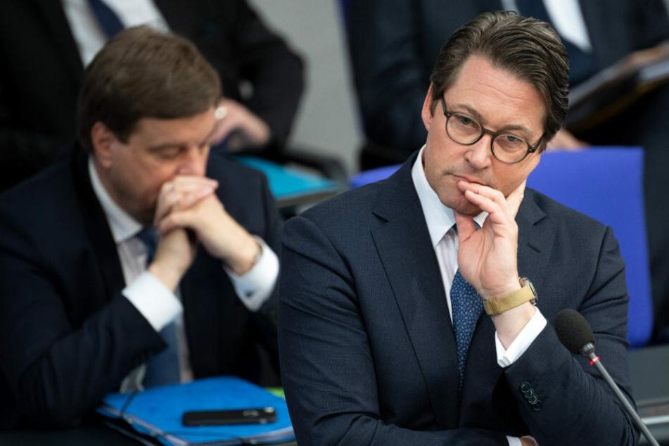 Verkehrsminister Andreas Scheuer im Bundestag.