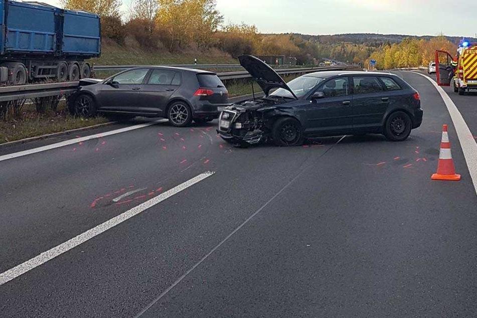 Drei Unfälle innerhalb kurzer Zeit: Kilometerlanger Stau auf A72