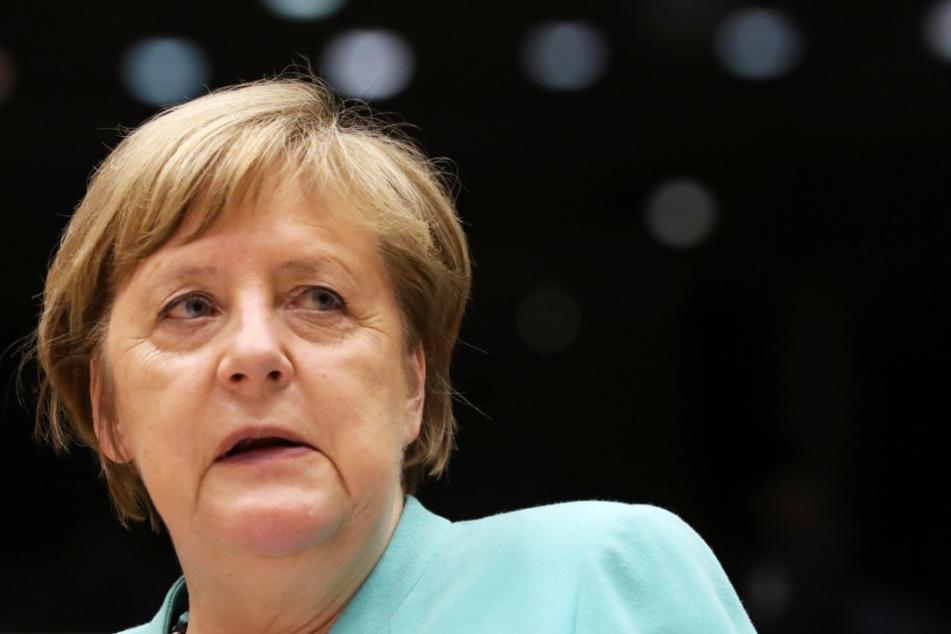 Bundeskanzlerin Angela Merkel im Europäischen Parlament in Brüssel.