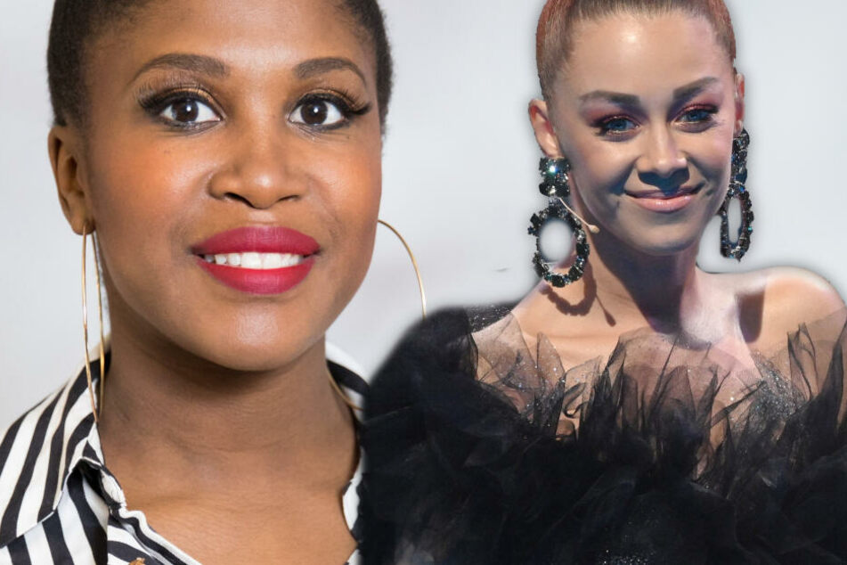 """Fotomontage: Die ehemalige """"Let's-Dance""""-Profitänzerin Oana Nechiti (Re.) wird Motsi Mabuse an zwei Terminen der Tournee in der Jury vertreten."""