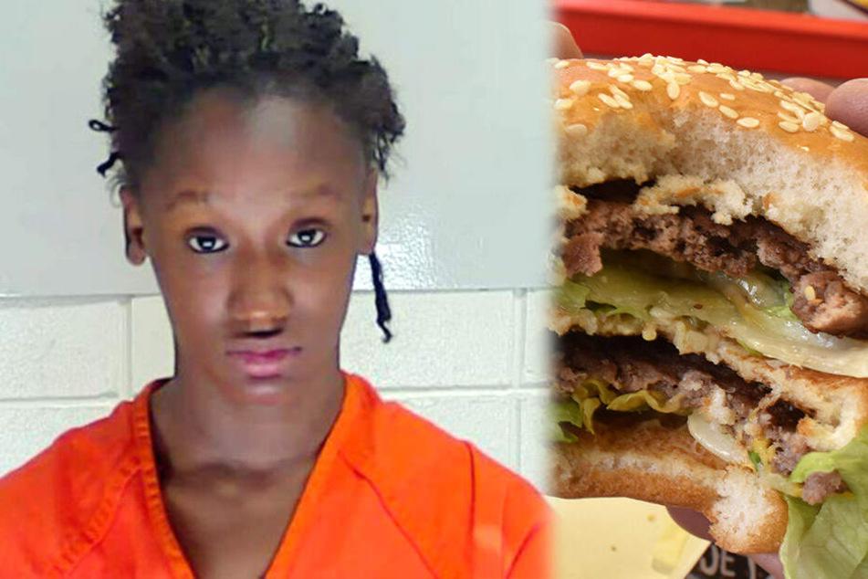 Sky Juliett Samuel (18) wurde festgenommen, weil sie Kunden eine blutige Speise vorsetzte.