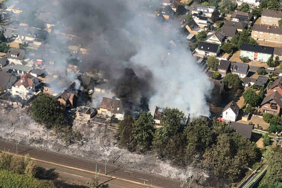 Der Großbrand im August 2018 hatte für große Schäden an sieben Häusern gesorgt.
