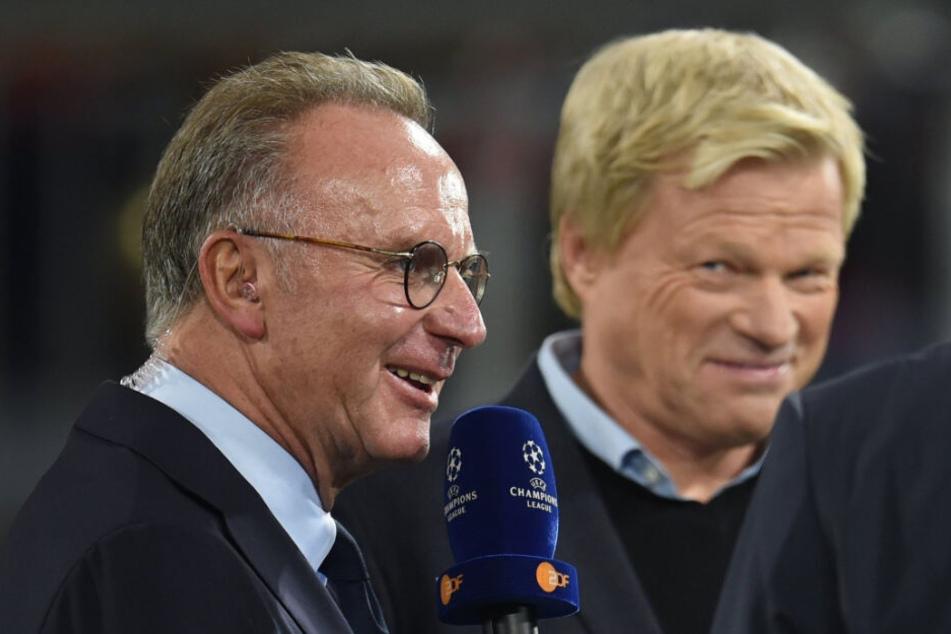 Oliver Kahn soll Karl-Heinz Rummenigge (l) als Vorstands-Boss ablösen.