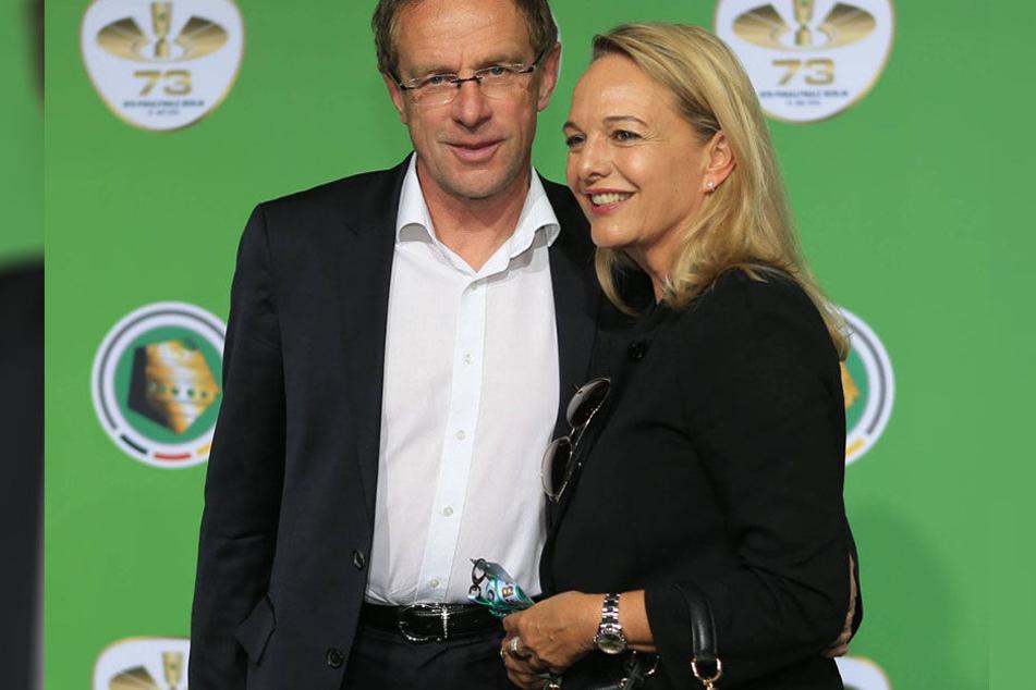 Ralf Rangnick (59), Sportdirektor von RB Leipzig und seine (Ex-) Frau Gaby.