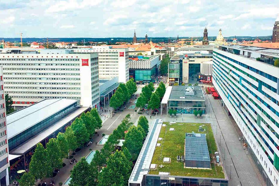 Die Prager Straße steht heute im  Mittelpunkt einer MDR-Reportage.