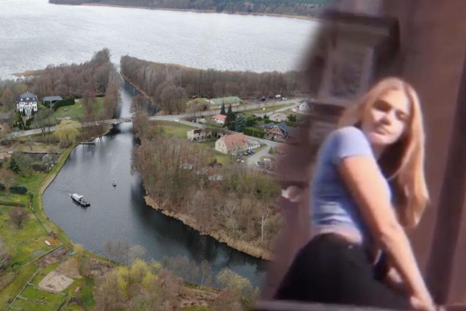 An diesem Brandenburger See suchte die Polizei auch gestern nach der verschwundenen Berlinerin Rebecca (15). (Bildcollage)