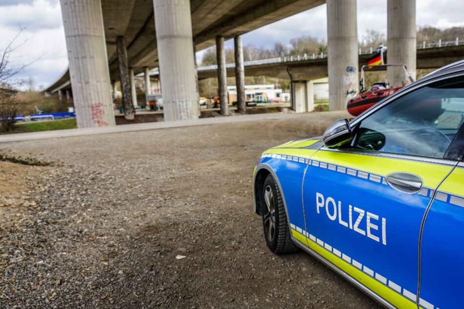 Polizei vor Ort.