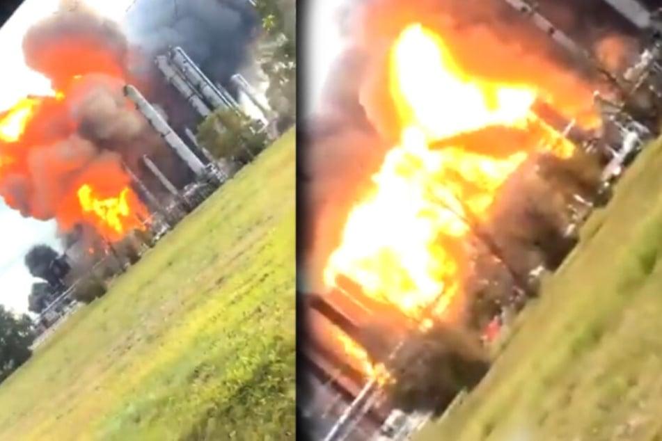 Heftige Explosionen erschüttern Chemie-Fabrik