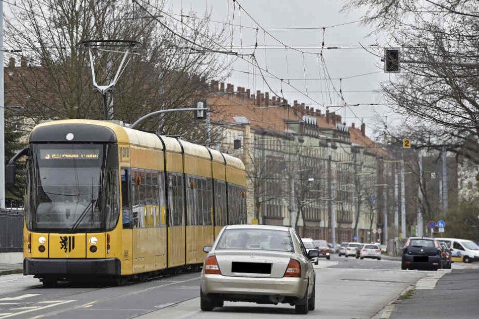 Die Tat ereignete sich auf der Großenhainer Straße in Dresden-Pieschen. (Symbolbild)
