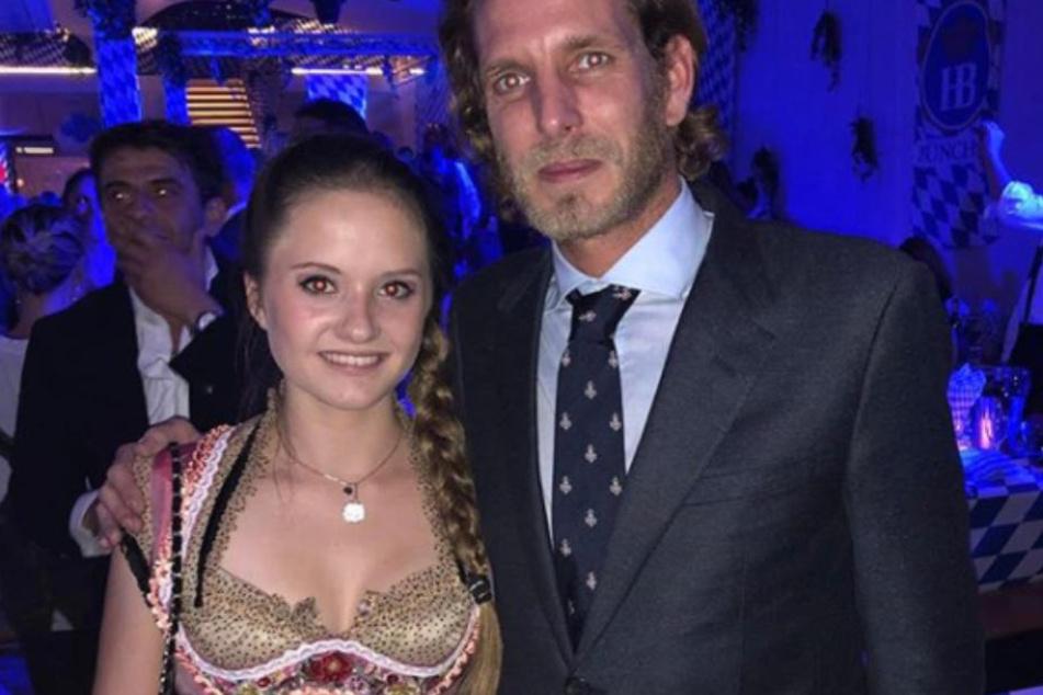 Prinz Andrea Casiraghi (34) posierte mit Davina Geiss für ein Foto.