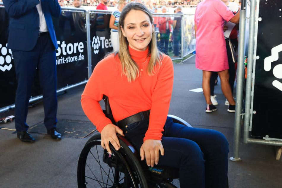 Kristina Vogel erstmals mit Handbike zurück auf der Rennstrecke