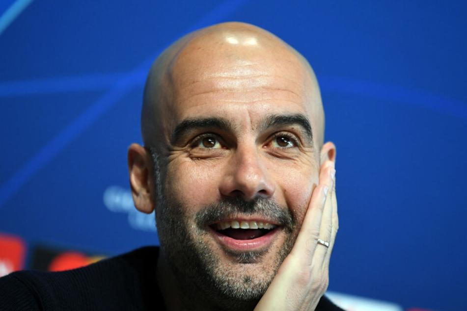 Trainer Pep Guardiola von Manchester City drückt dem FC Bayern München am Mittwoch die Daumen.