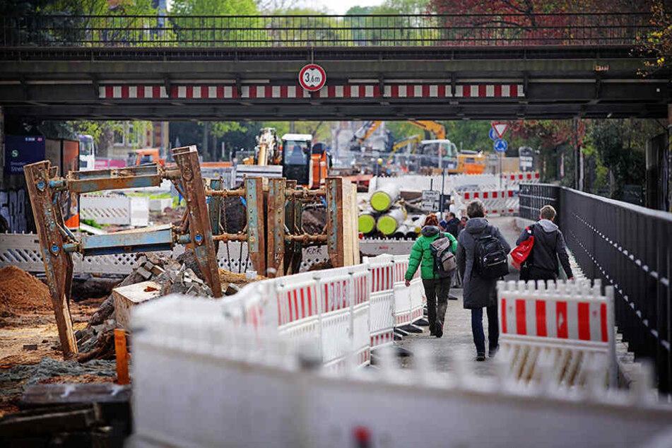 Die Oskarstraße kann erst nächstes Jahr weiter gebaut werden.