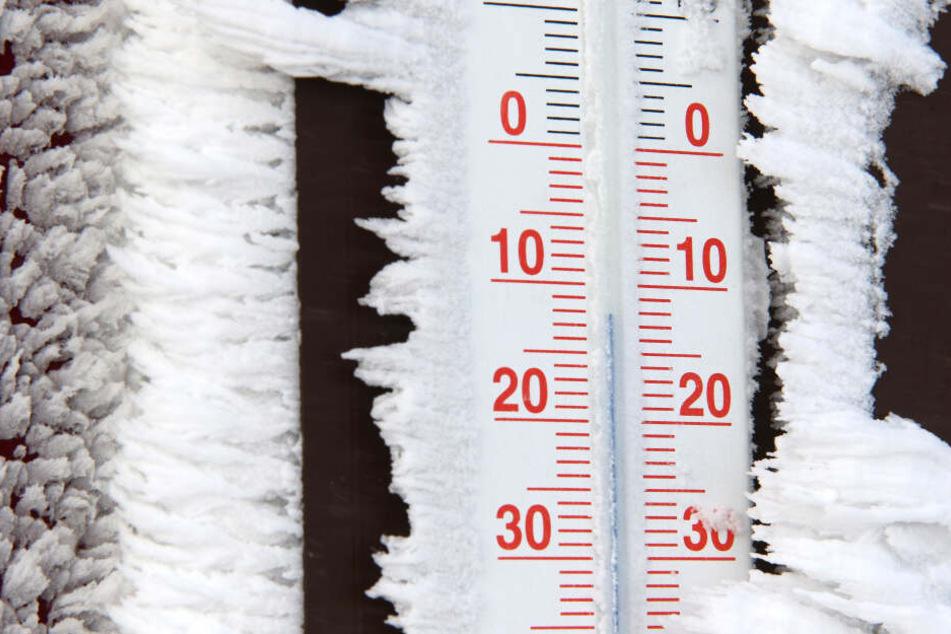 Die Temperaturen rutschen weit unter Null!