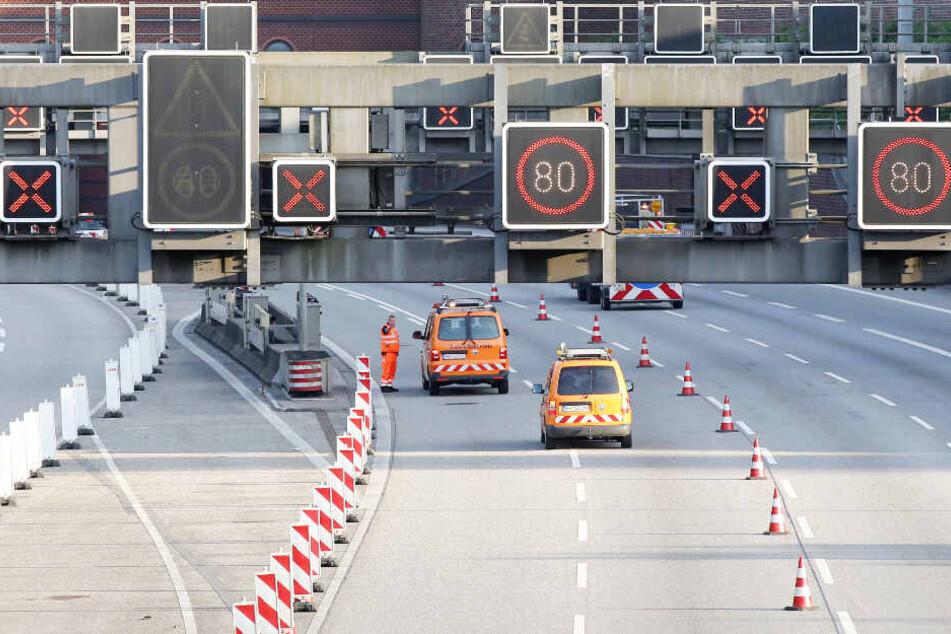 A7-Ausbau auf acht Spuren: Elbtunnel muss gesperrt werden