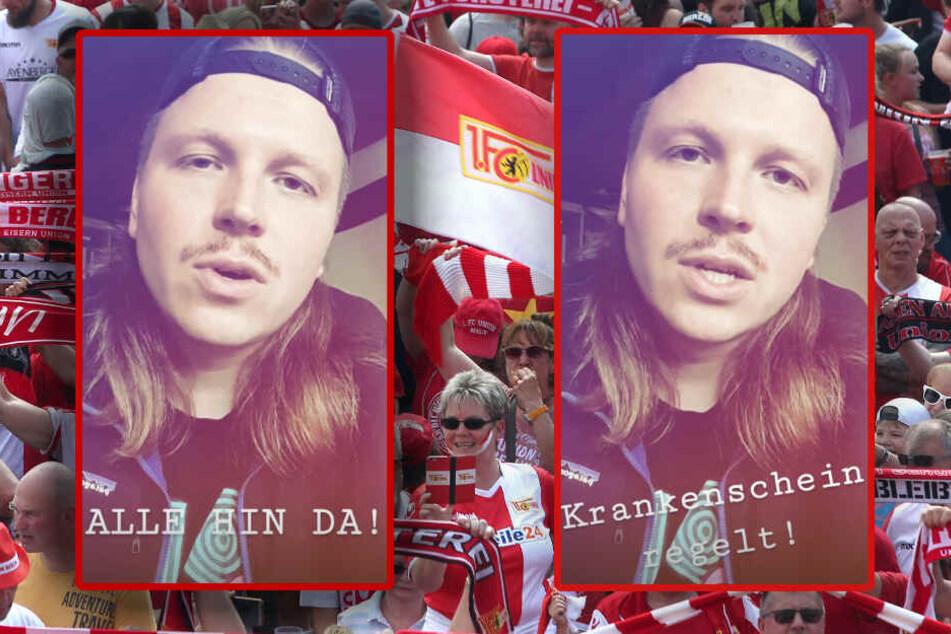 Finch Asozial ist bekennender Fan vom 1. FC Union Berlin. (Bildmontage)