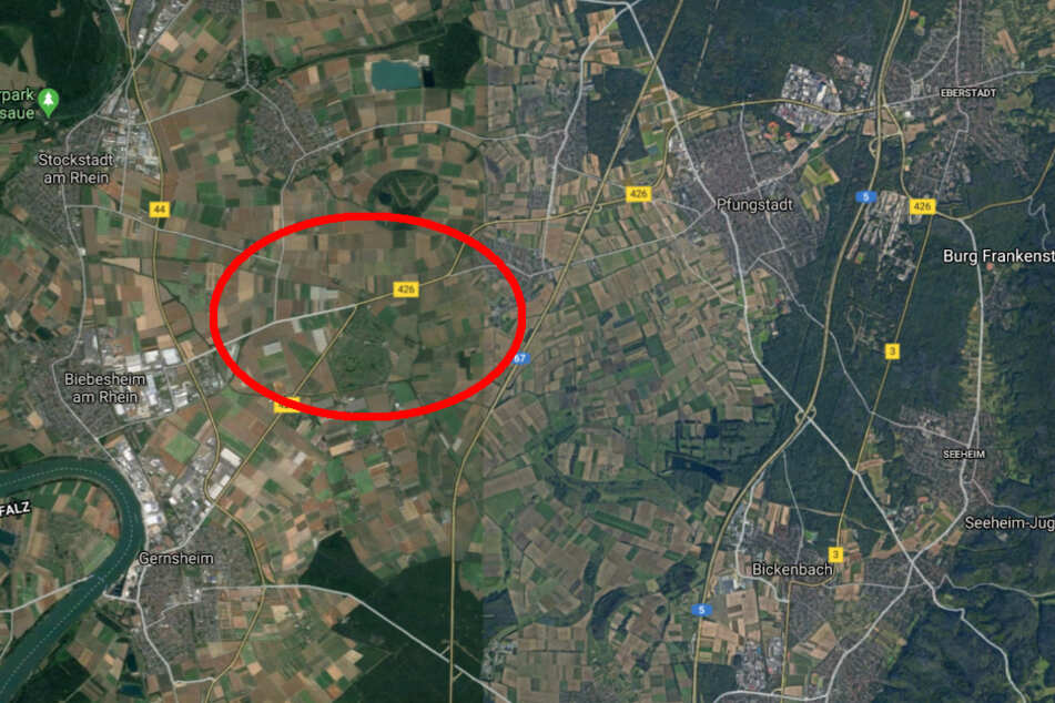 Der Unfall passierte an der Kreuzung zwischen Biebesheim, Pfungstadt-Hahn und Gernsheim-Allmendfeld.