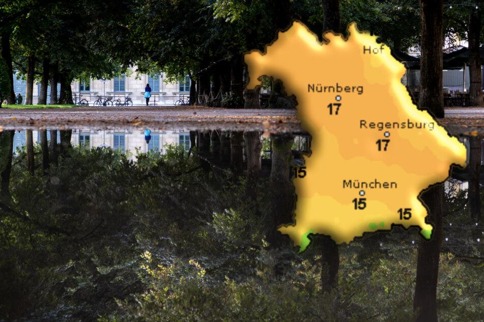 In München bleibt es am Wochenende regnerisch und kühl.