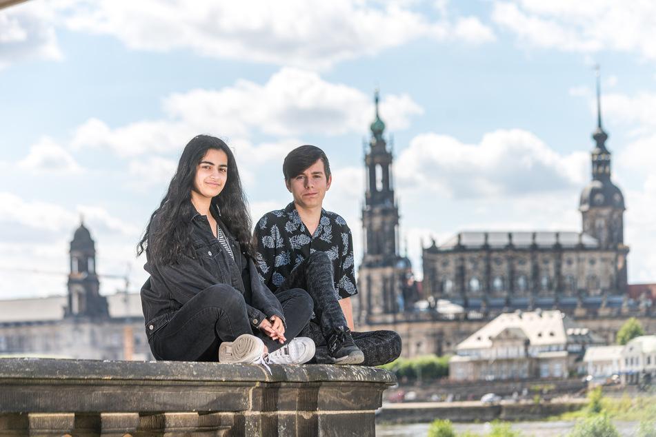 Die Interacter Lana Bahram (17) und Maurice Reitzig (15) freuen sich schon auf künftige Mitstreiter.