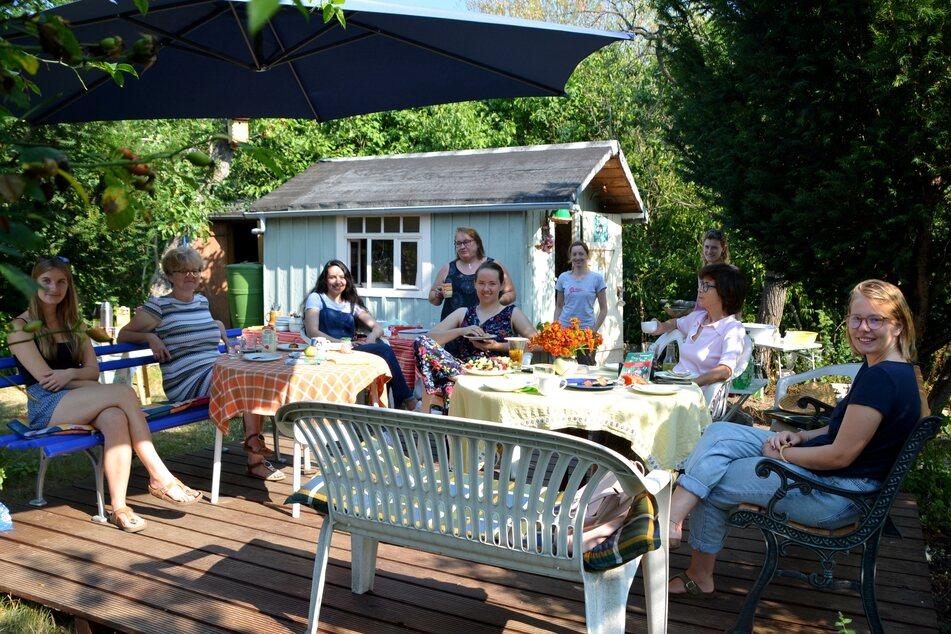 """In den """"Bunten Gärten"""" wird oft zusammen gefrühstückt."""